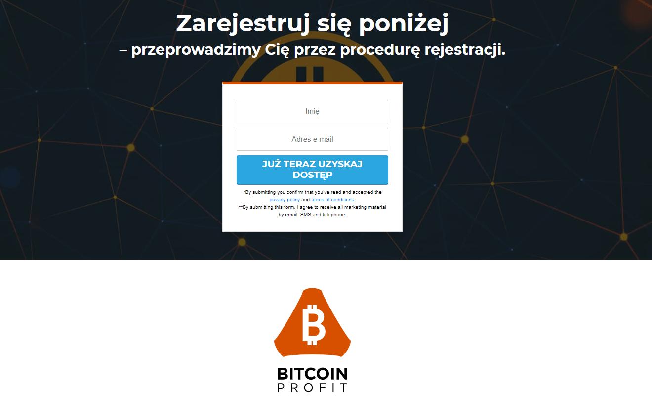 Zarejestruj Bitcoin Profit