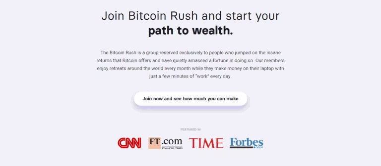 How does trading with Bitcoin Rush work screen