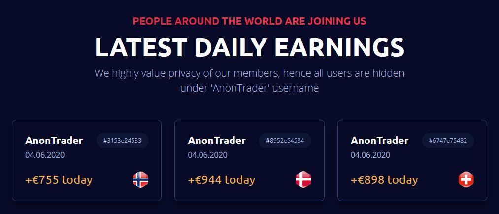Anon system crypto bot inkomsten