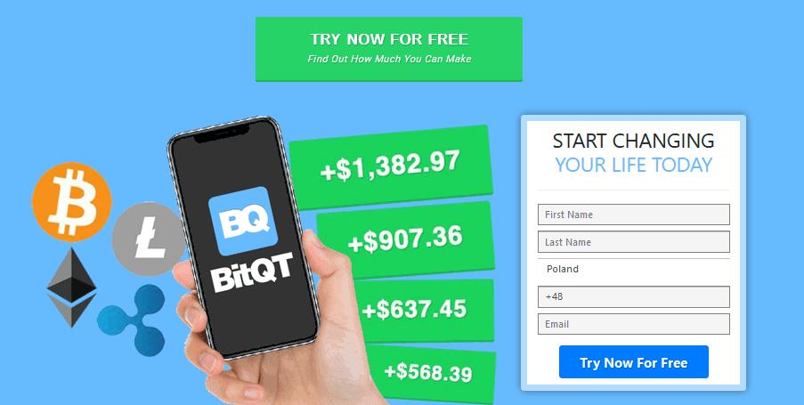 Homepage of BitQT