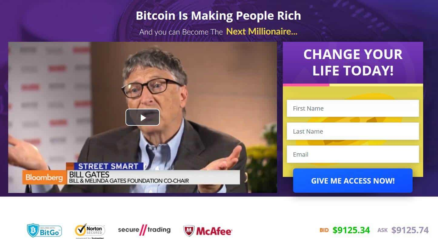 Homepage of Bitcoin Future