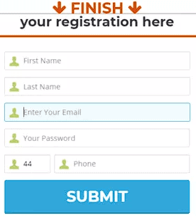 Account register form of Bitcoin Profit
