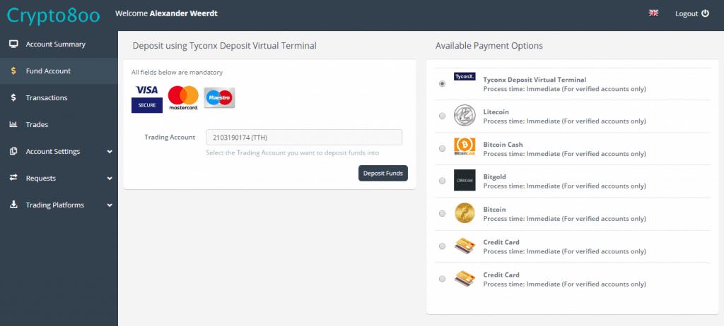 Bitcoin Up payment methods deposit