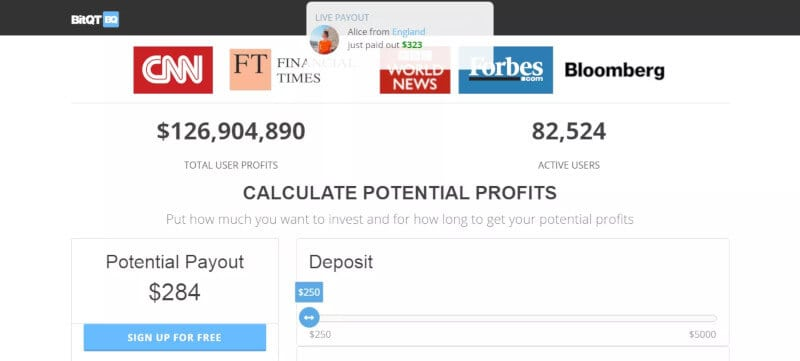 Depósito de los métodos de pago BitQT