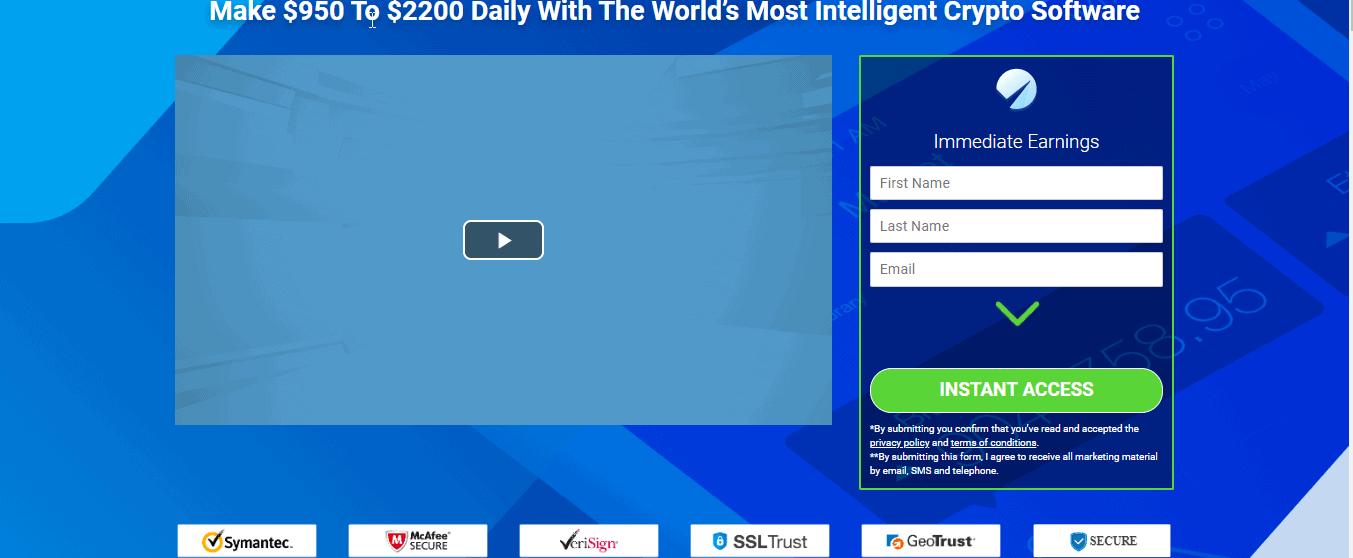 Homepage of Immediate Edge