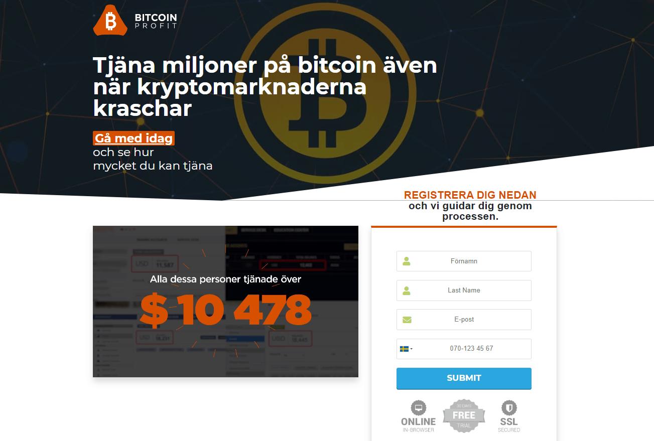 Página web de Bitcoin Profit