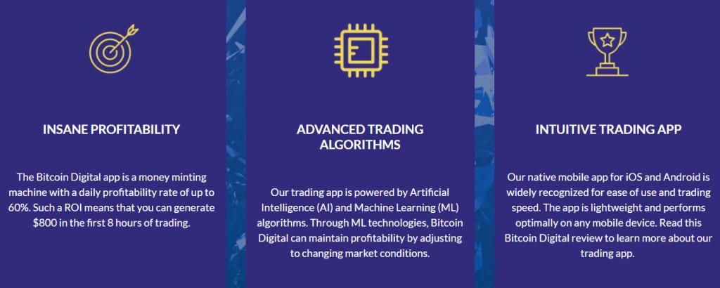 bitcoin digital handelsfunksjoner